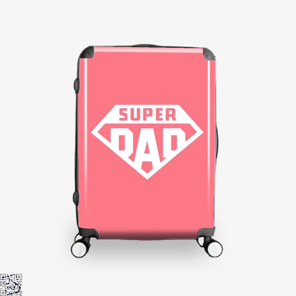 Superdad Fathers Day Suitcase - Pink / 16 - Productgenapi