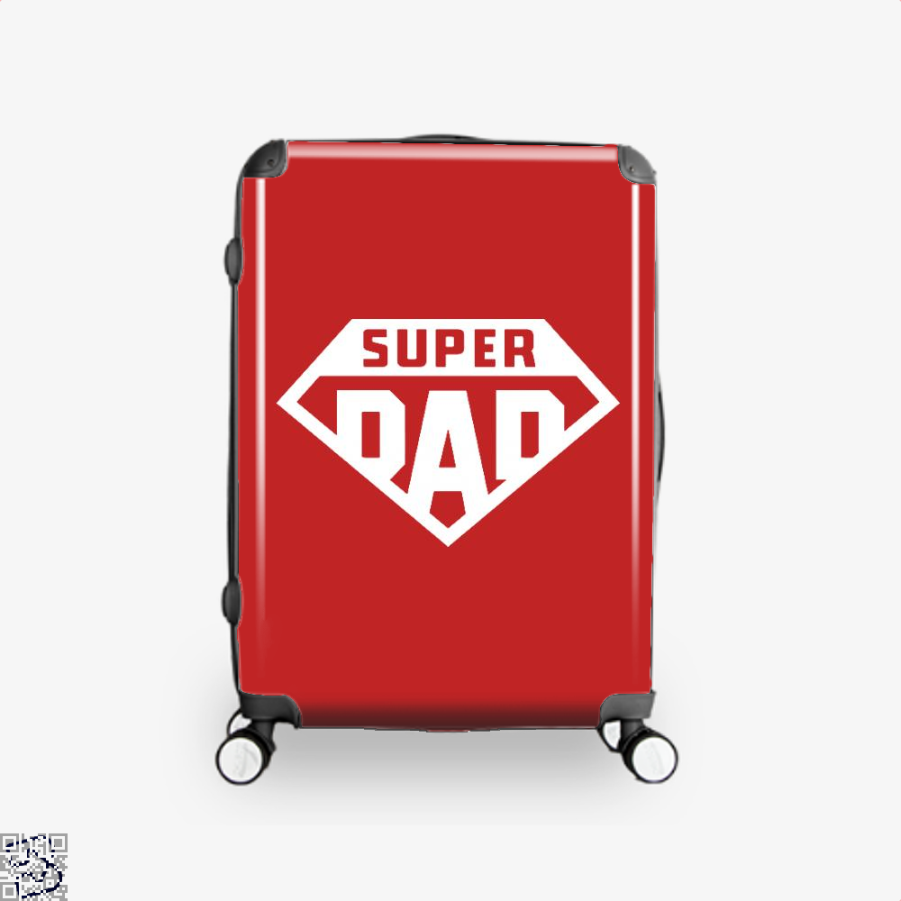 Superdad Fathers Day Suitcase - Red / 16 - Productgenapi