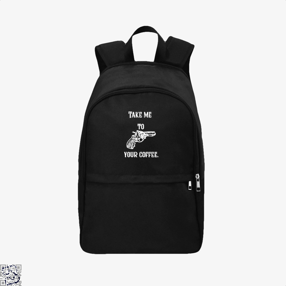 Take Me To Your Coffee Backpack - Black / Adult - Productgenapi