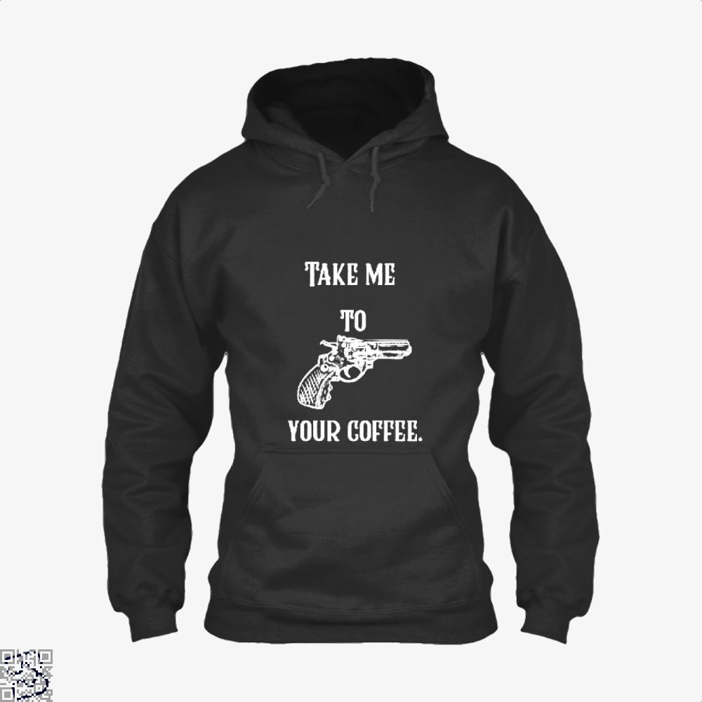 Take Me To Your Coffee Hoodie - Black / X-Small - Productgenapi