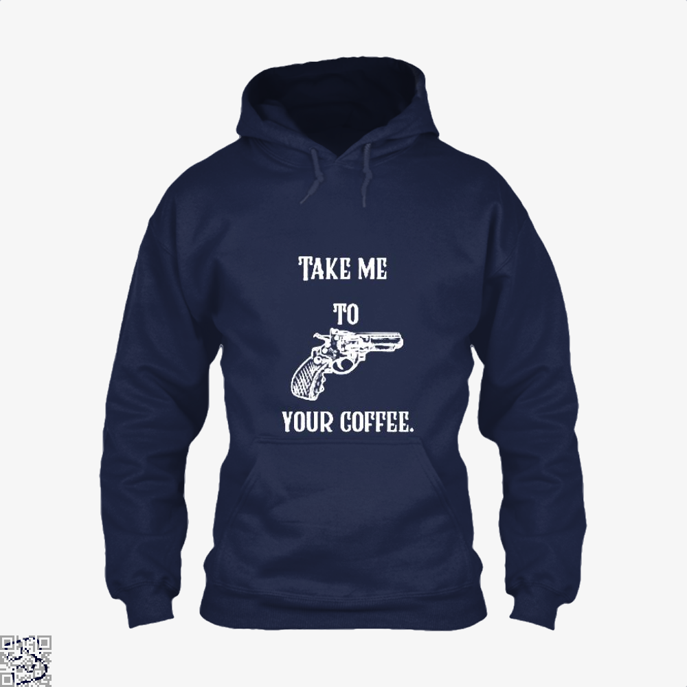 Take Me To Your Coffee Hoodie - Blue / X-Small - Productgenapi