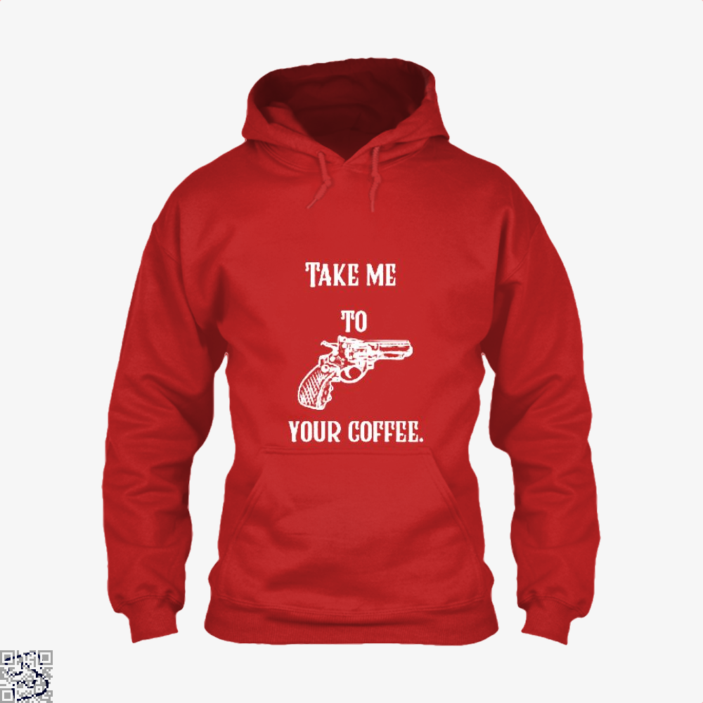 Take Me To Your Coffee Hoodie - Red / X-Small - Productgenapi