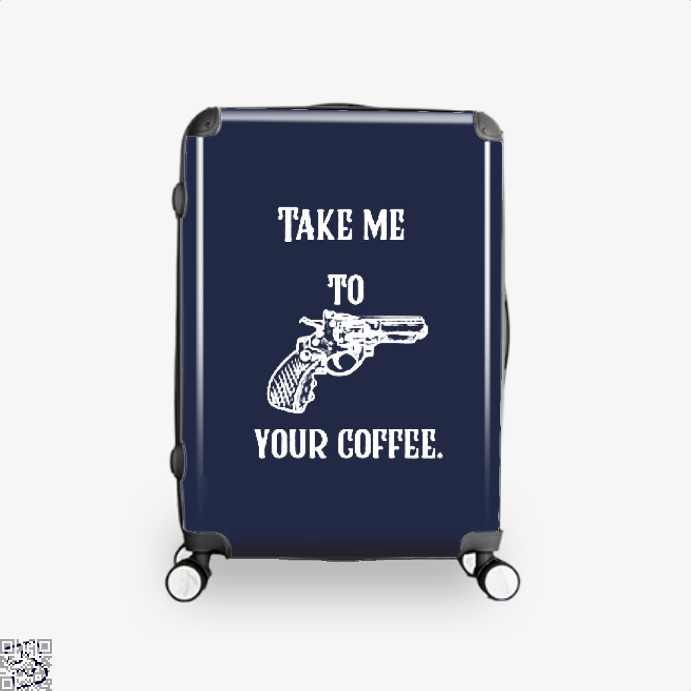 Take Me To Your Coffee Suitcase - Blue / 16 - Productgenapi