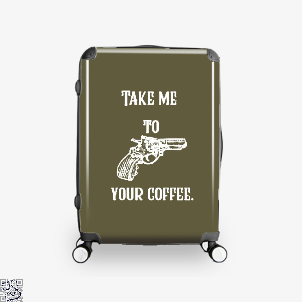 Take Me To Your Coffee Suitcase - Brown / 16 - Productgenapi