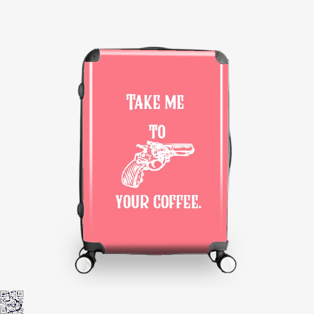 Take Me To Your Coffee Suitcase - Pink / 16 - Productgenapi