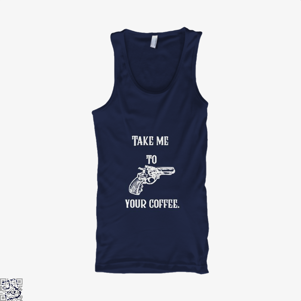 Take Me To Your Coffee Tank Top - Women / Blue / Small - Productgenapi