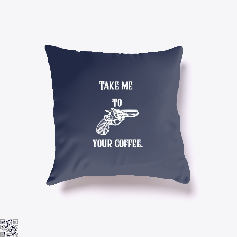 Take Me To Your Coffee Throw Pillow Cover - Blue / 16 X - Productgenapi