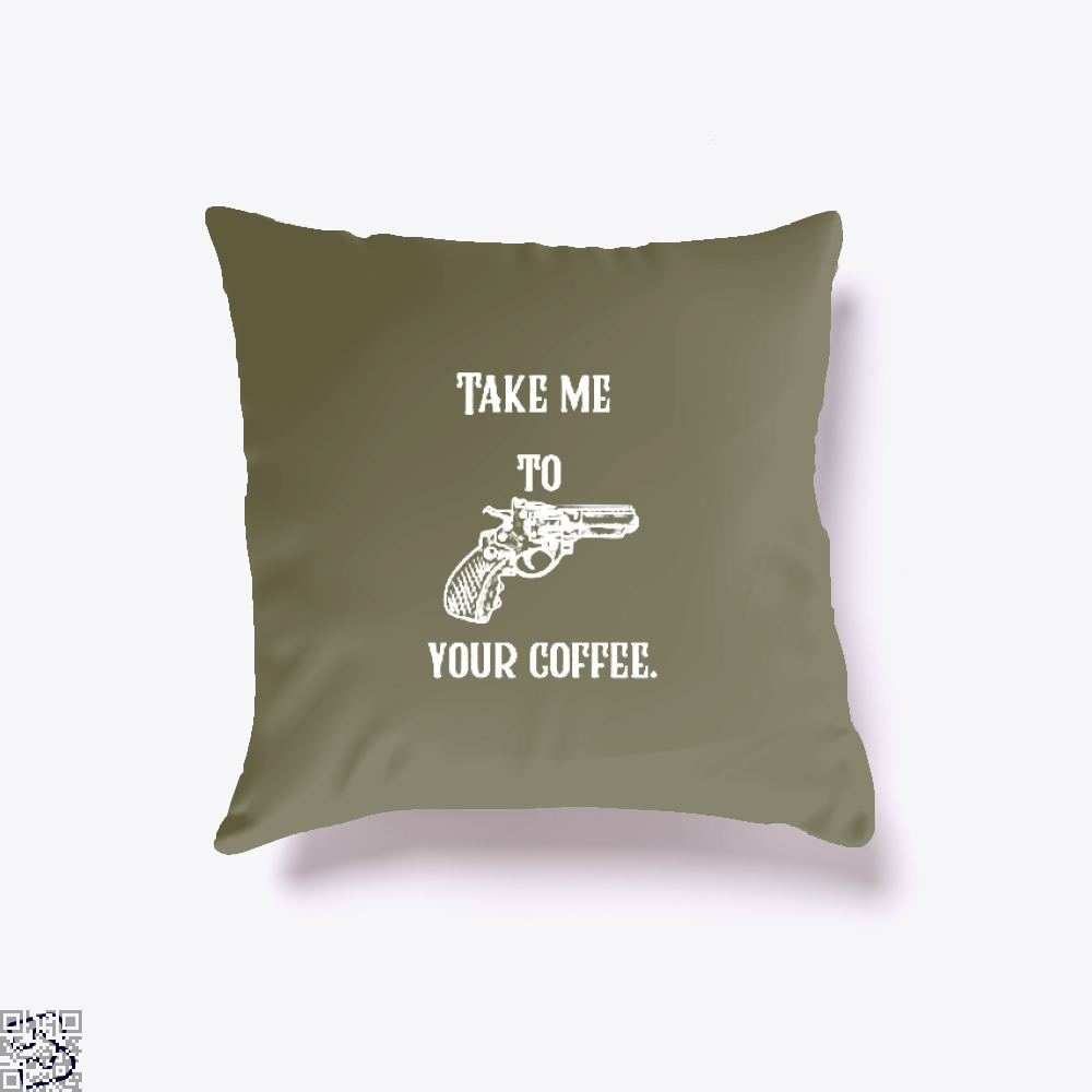 Take Me To Your Coffee Throw Pillow Cover - Brown / 16 X - Productgenapi