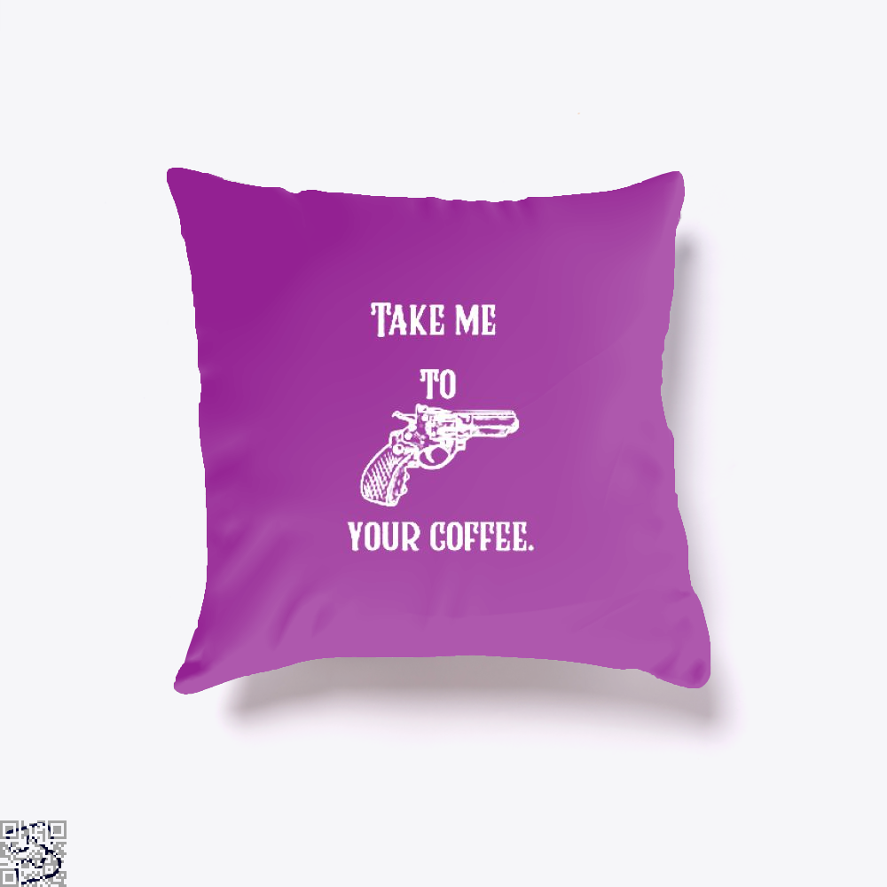 Take Me To Your Coffee Throw Pillow Cover - Purple / 16 X - Productgenapi