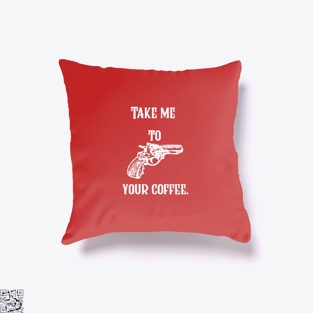 Take Me To Your Coffee Throw Pillow Cover - Red / 16 X - Productgenapi