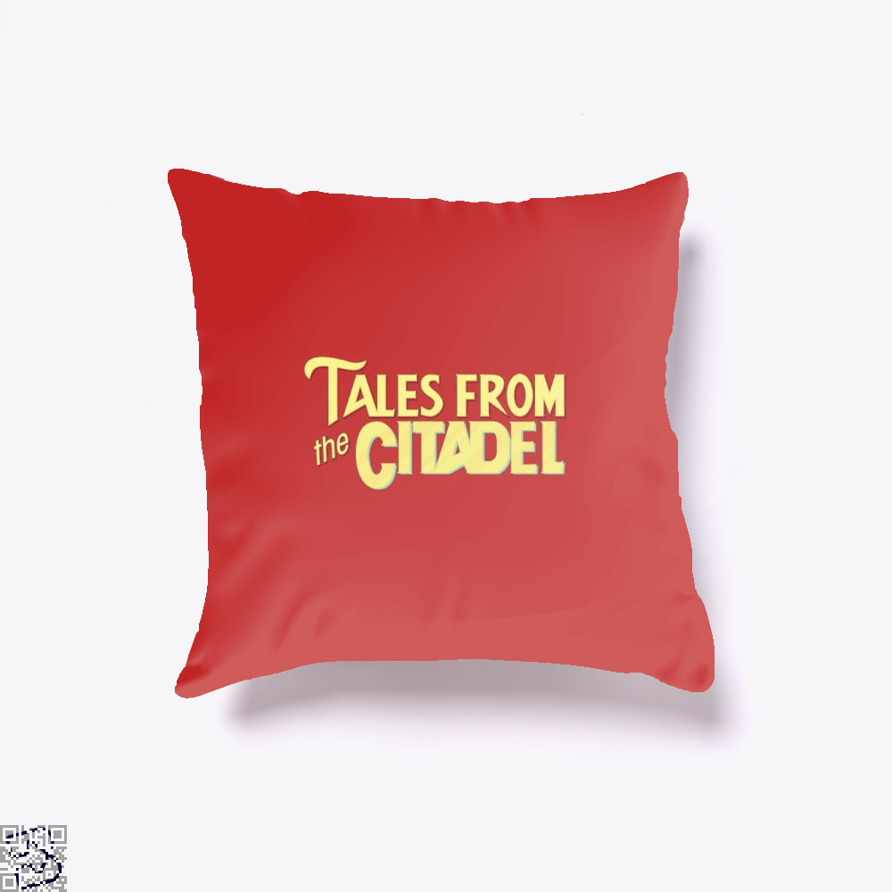 Tales From The Citadel Rick And Morty Throw Pillow Cover - Red / 16 X - Productgenjpg