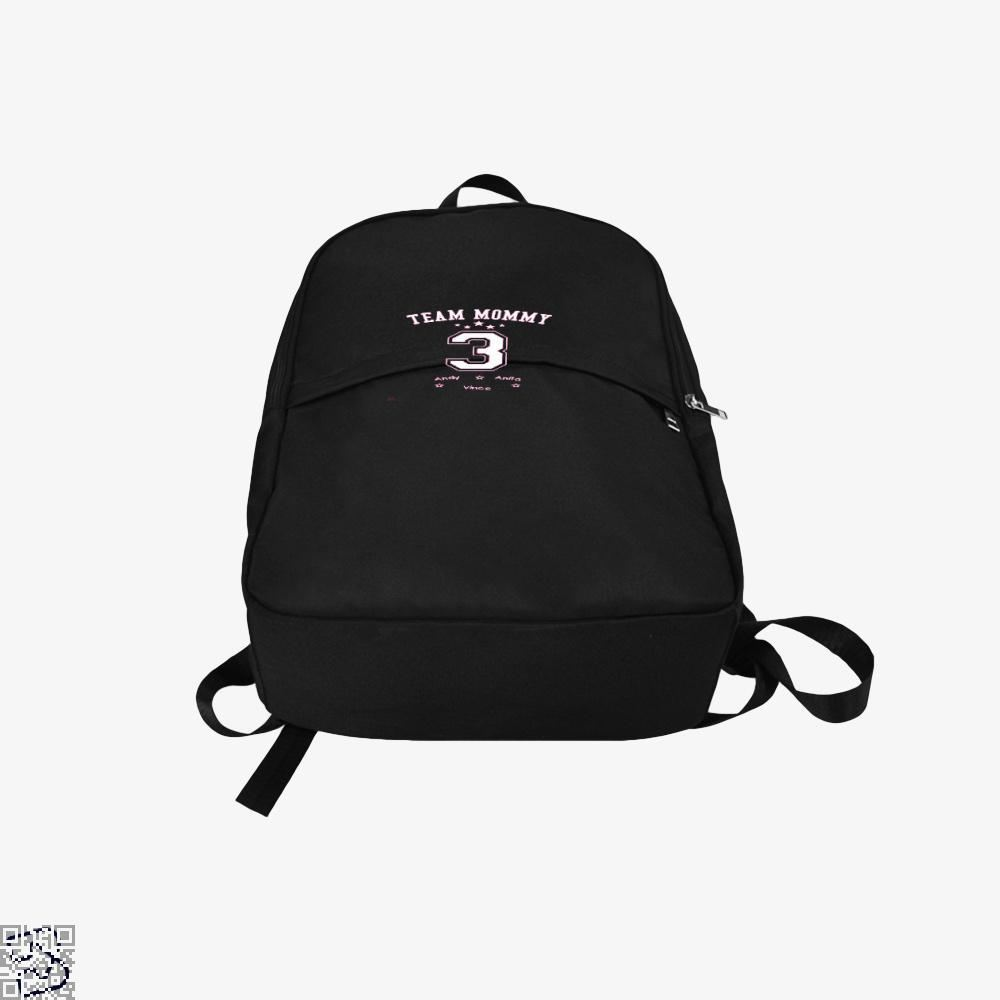 Team Mommy 3 Mothers Day Backpack - Productgenjpg