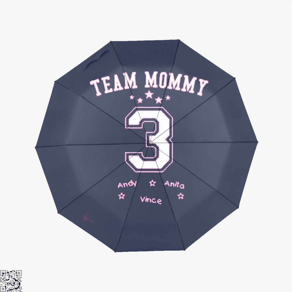 Team Mommy 3 Mothers Day Umbrella - Productgenjpg