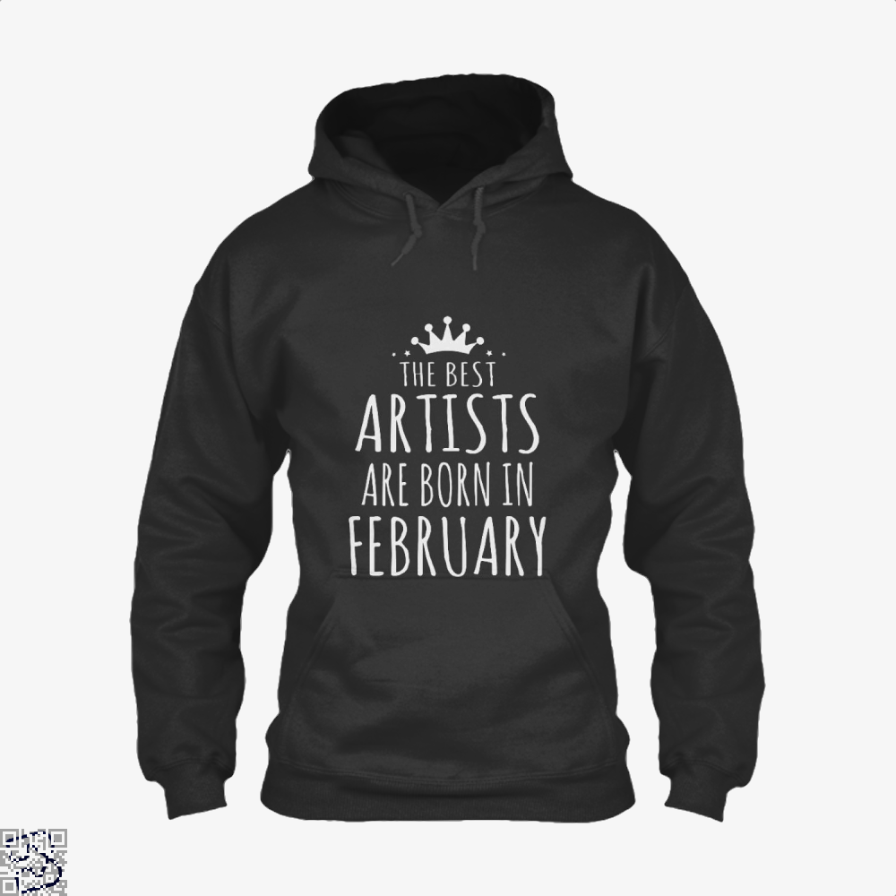 The Best Artists Are Born In February Sewing Hoodie - Black / X-Small - Productgenjpg
