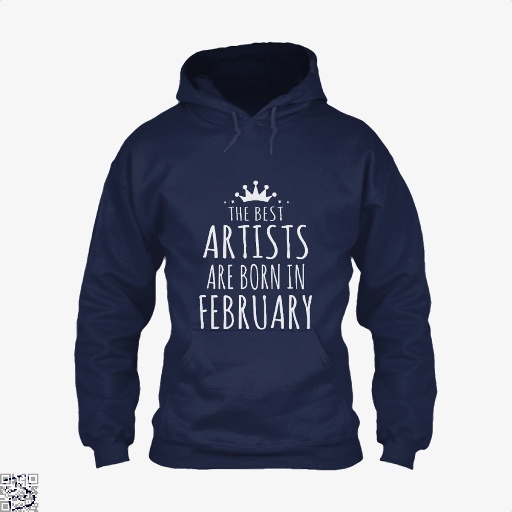 The Best Artists Are Born In February Sewing Hoodie - Blue / X-Small - Productgenjpg