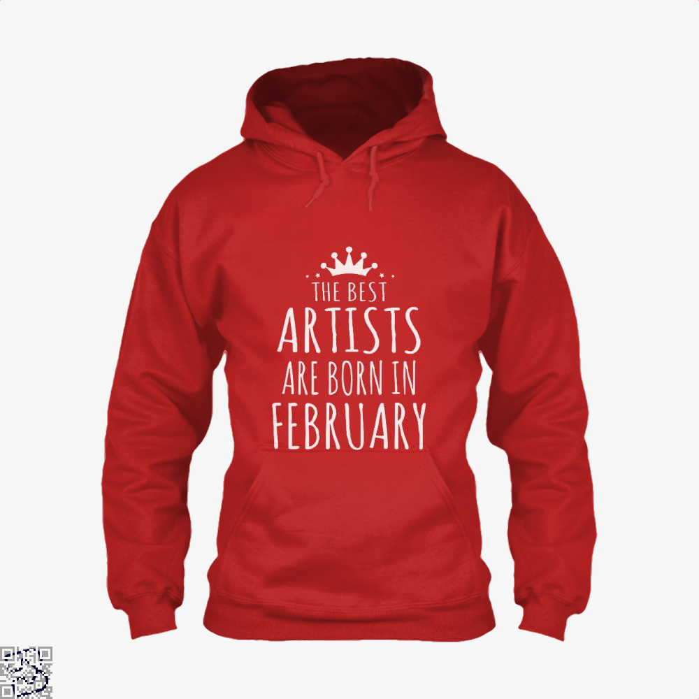 The Best Artists Are Born In February Sewing Hoodie - Red / X-Small - Productgenjpg