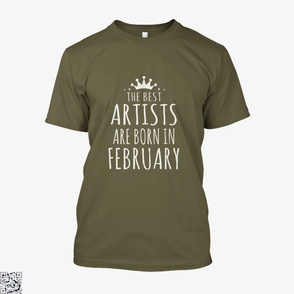 The Best Artists Are Born In February Sewing Shirt - Men / Brown / X-Small - Productgenjpg