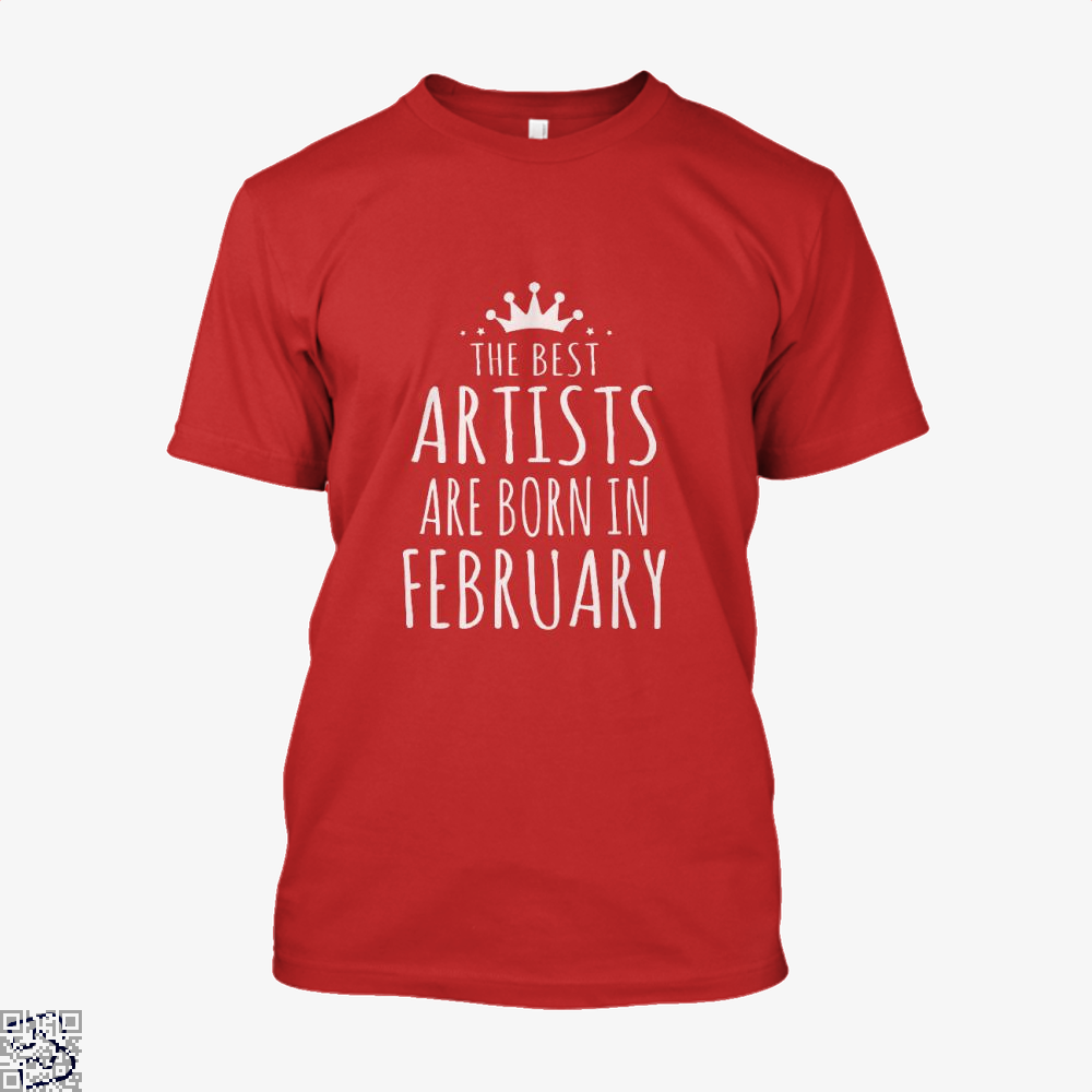 The Best Artists Are Born In February Sewing Shirt - Men / Red / X-Small - Productgenjpg