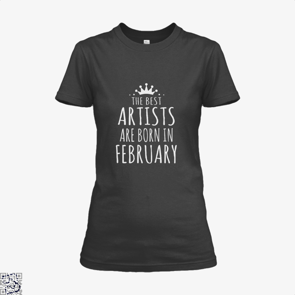 The Best Artists Are Born In February Sewing Shirt - Women / Black / X-Small - Productgenjpg