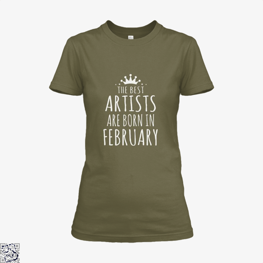 The Best Artists Are Born In February Sewing Shirt - Women / Brown / X-Small - Productgenjpg
