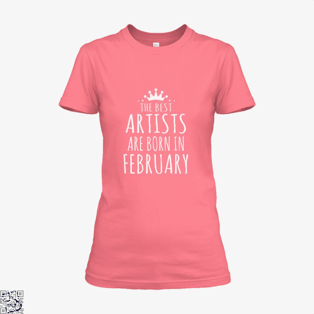The Best Artists Are Born In February Sewing Shirt - Women / Pink / X-Small - Productgenjpg