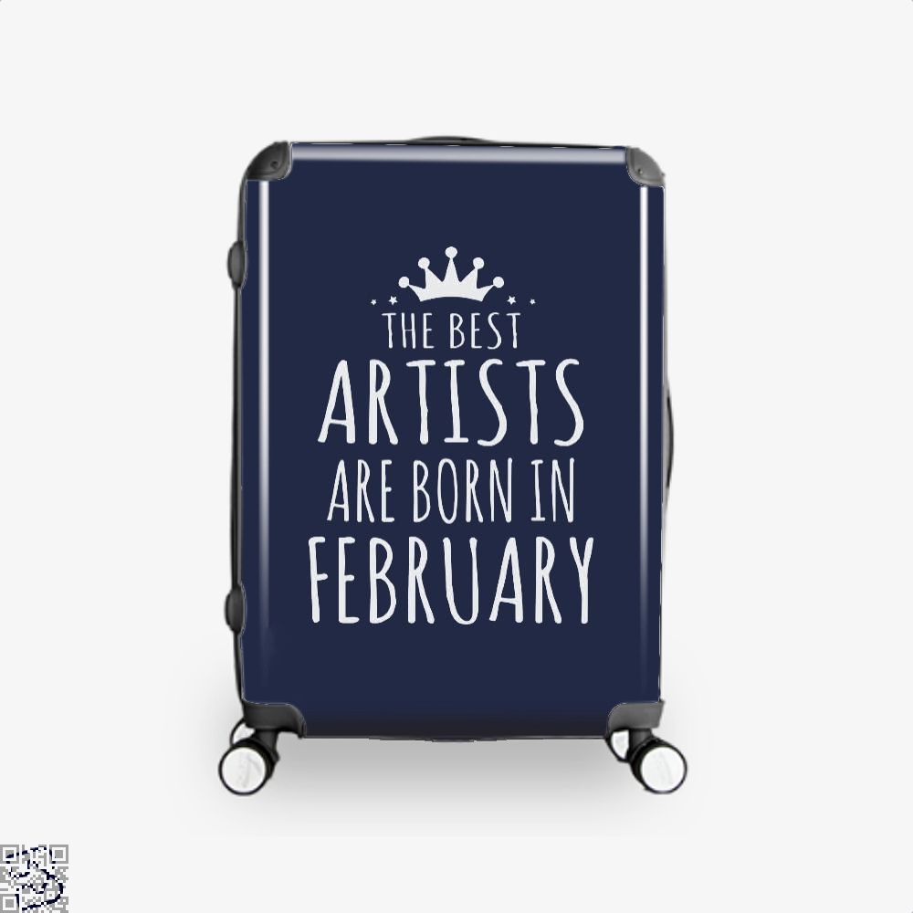 The Best Artists Are Born In February Sewing Suitcase - Blue / 16 - Productgenjpg