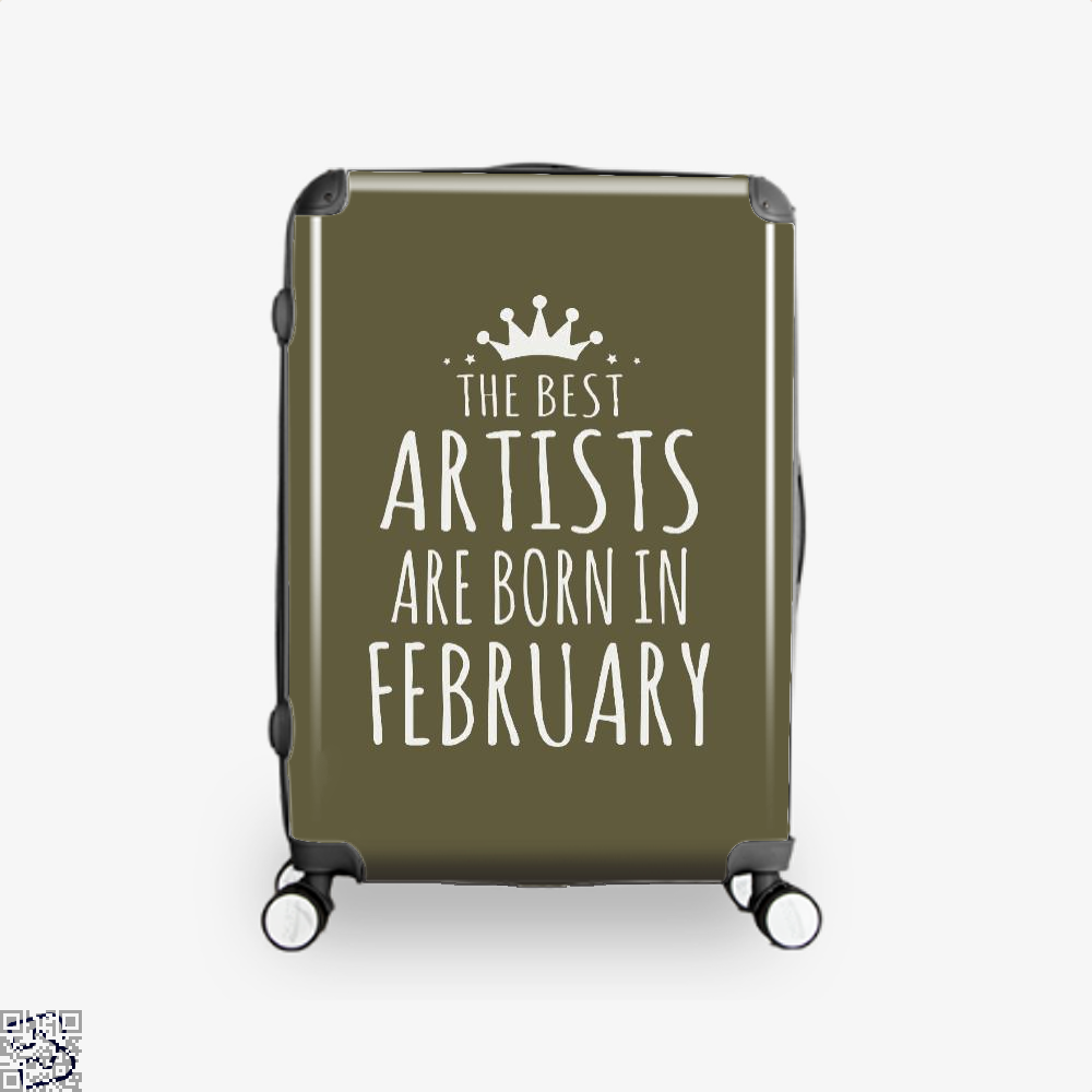 The Best Artists Are Born In February Sewing Suitcase - Brown / 16 - Productgenjpg