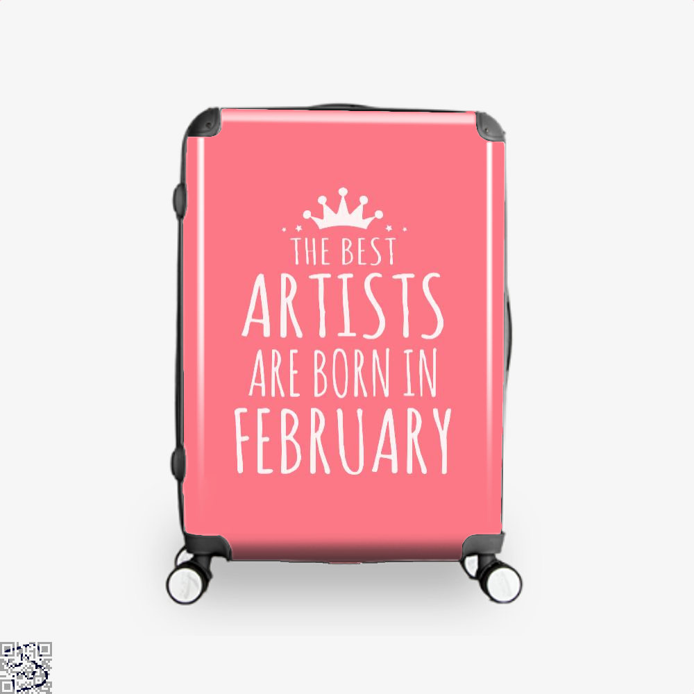 The Best Artists Are Born In February Sewing Suitcase - Pink / 16 - Productgenjpg