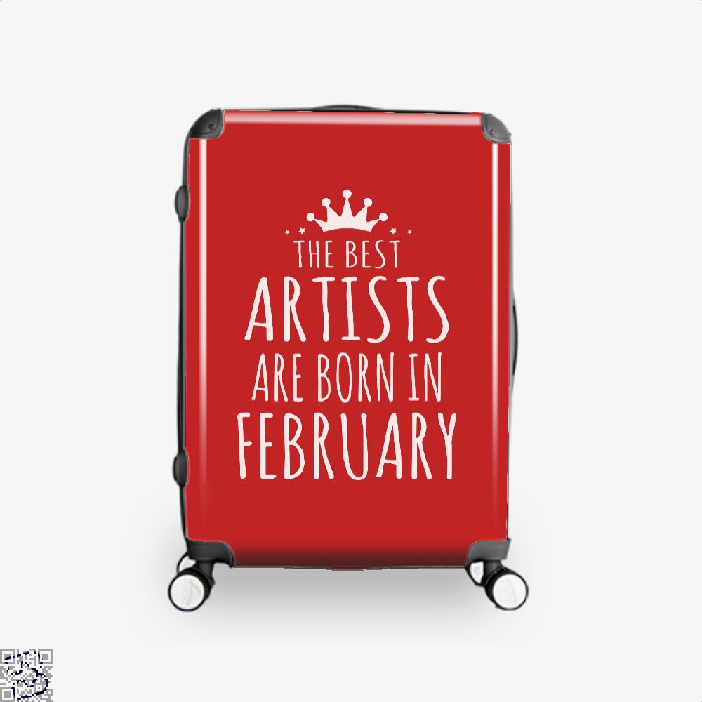 The Best Artists Are Born In February Sewing Suitcase - Red / 16 - Productgenjpg