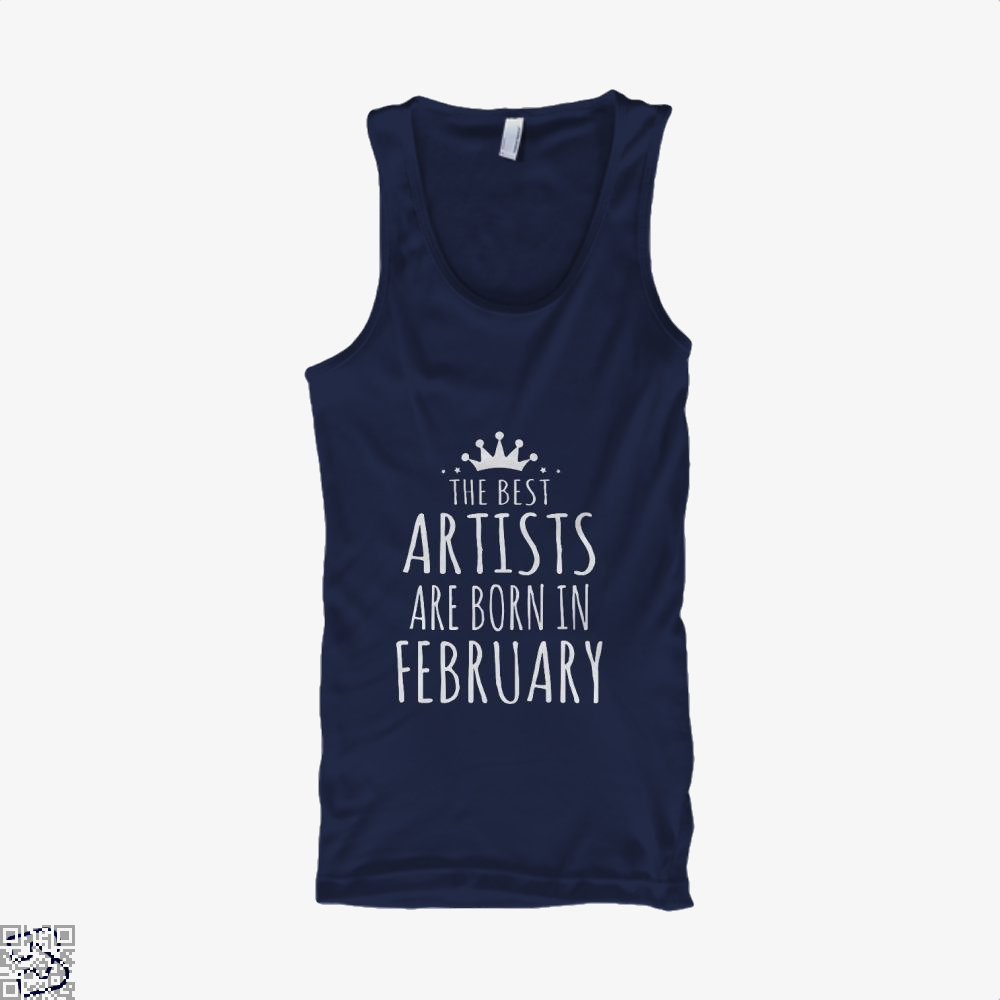 The Best Artists Are Born In February Sewing Tank Top - Men / Blue / X-Small - Productgenjpg