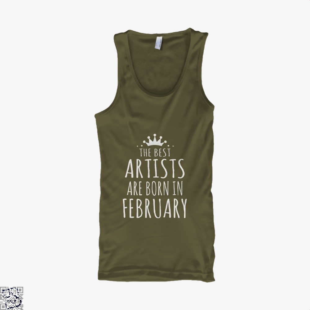 The Best Artists Are Born In February Sewing Tank Top - Men / Brown / X-Small - Productgenjpg