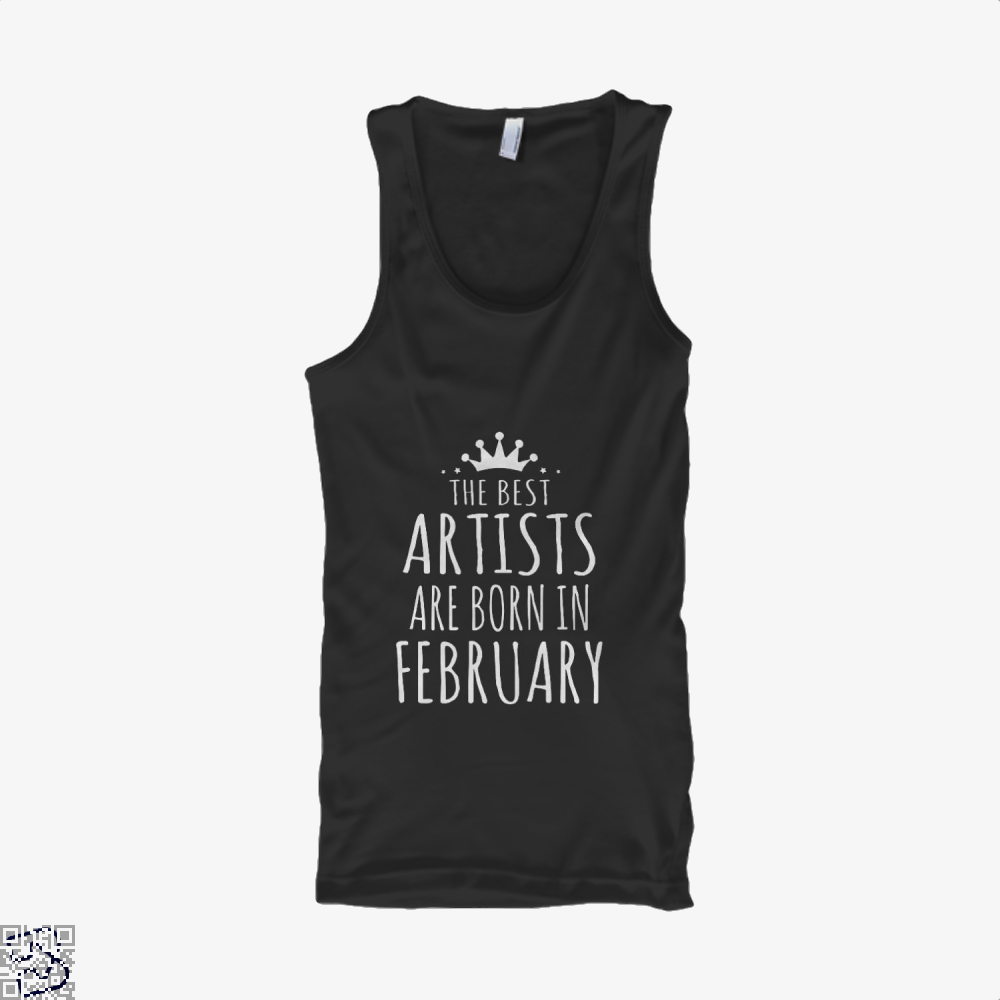 The Best Artists Are Born In February Sewing Tank Top - Women / Black / X-Small - Productgenjpg