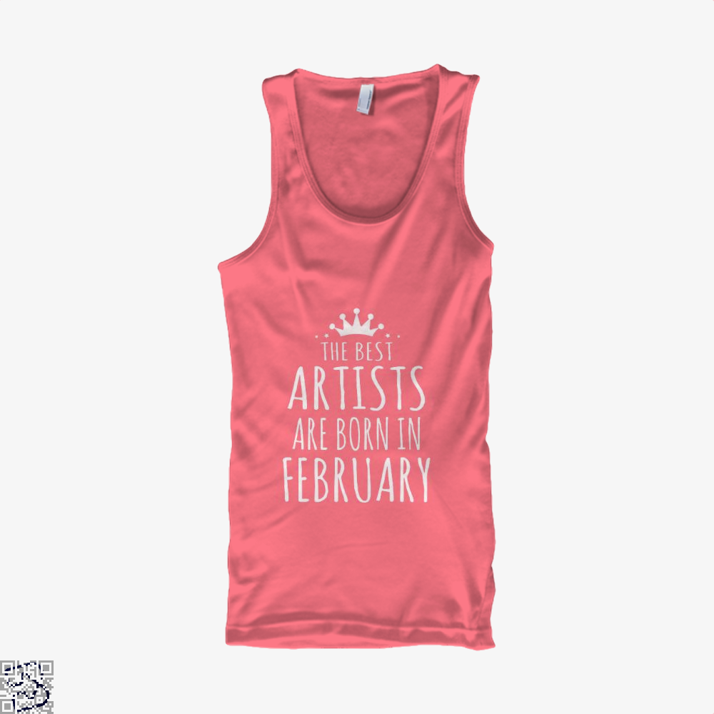 The Best Artists Are Born In February Sewing Tank Top - Women / Pink / Xx-Small - Productgenjpg