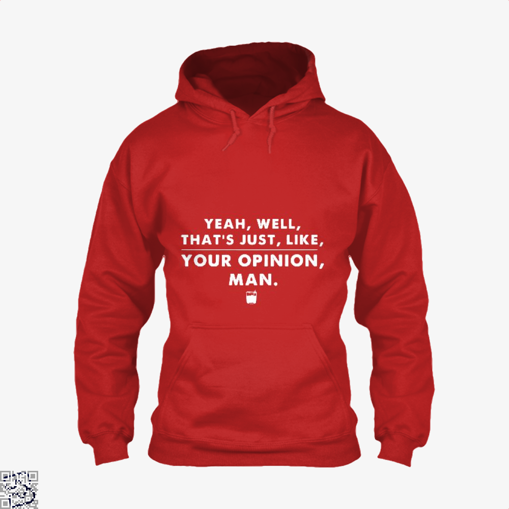 The Dude Abides Thats Your Opinion Man Juvenile Hoodie - Red / X-Small - Productgenjpg