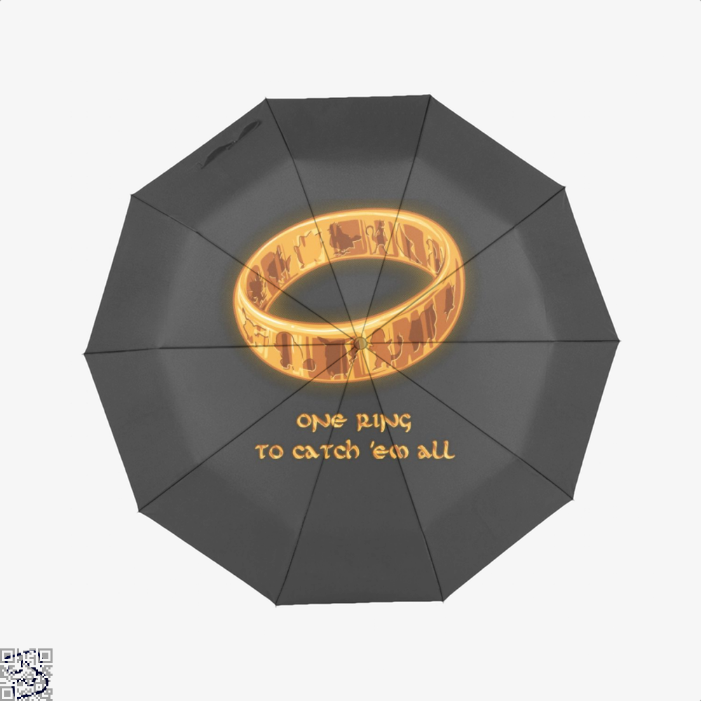 The One Ring Lord Of Rings Umbrella - Black - Productgenjpg