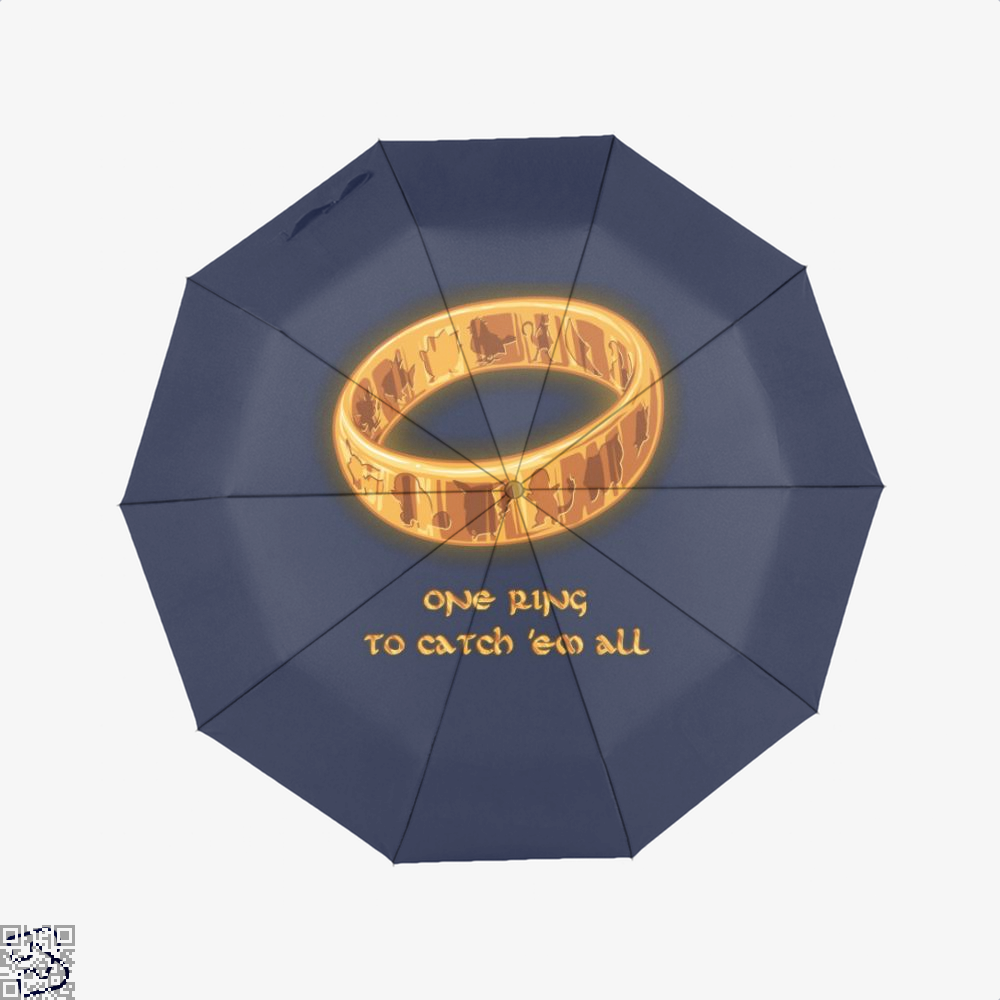 The One Ring Lord Of Rings Umbrella - Blue - Productgenjpg
