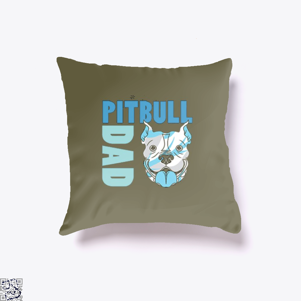 The Pitbull Blue Pit Bull Dad Throw Pillow Cover - Brown / 16 X - Productgenjpg