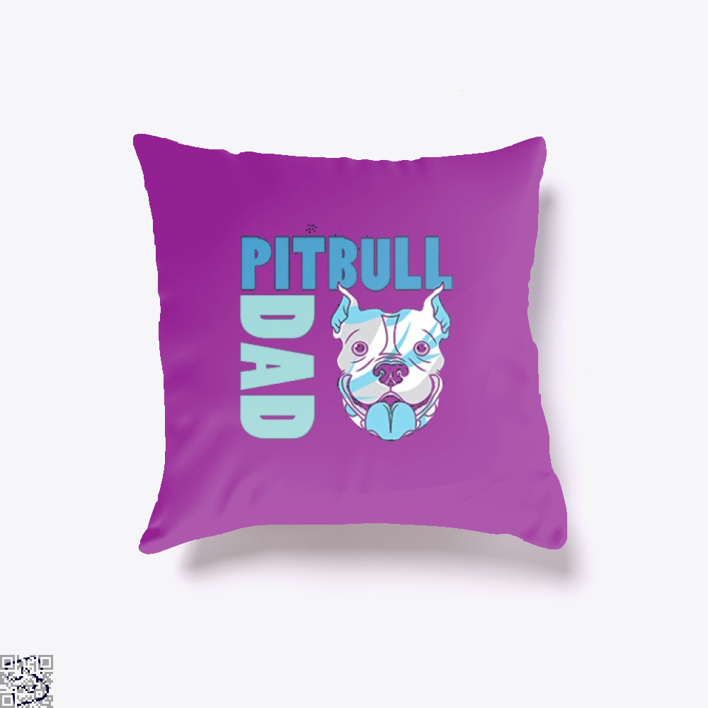 The Pitbull Blue Pit Bull Dad Throw Pillow Cover - Productgenjpg
