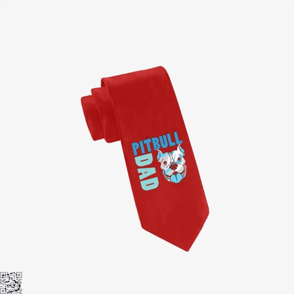 The Pitbull Blue Pit Bull Dad Tie - Red - Productgenjpg