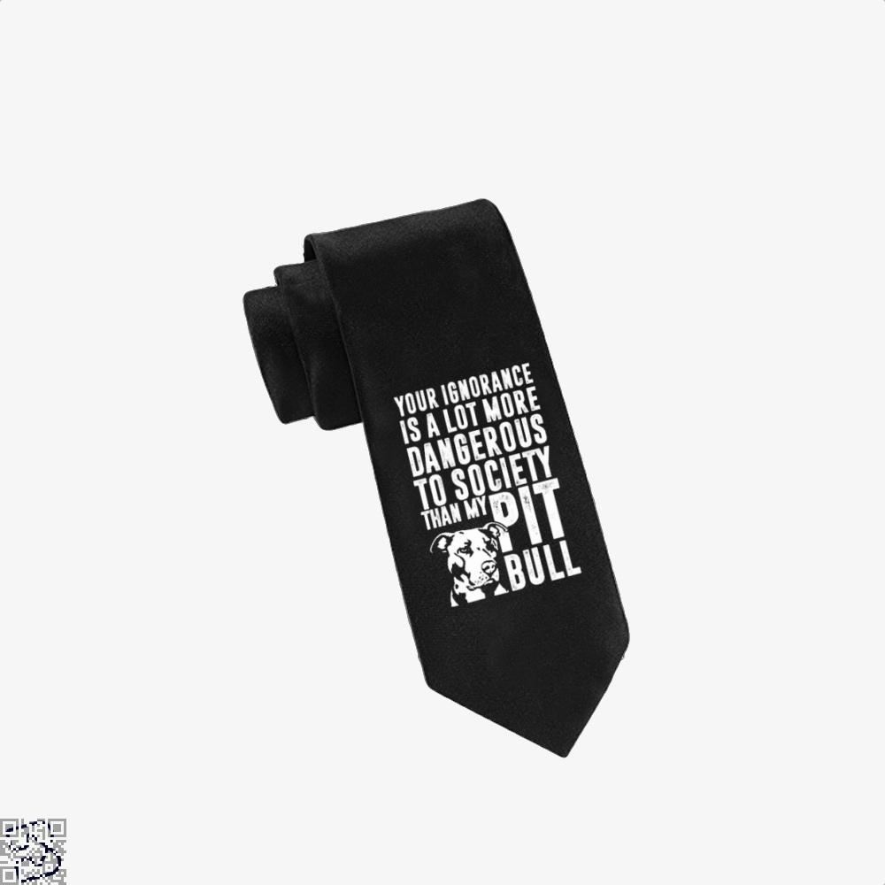 The Pitbull Dangerous Ignorance Tie - Black - Productgenjpg