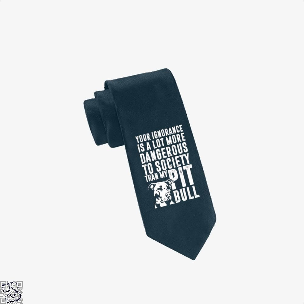 The Pitbull Dangerous Ignorance Tie - Navy - Productgenjpg
