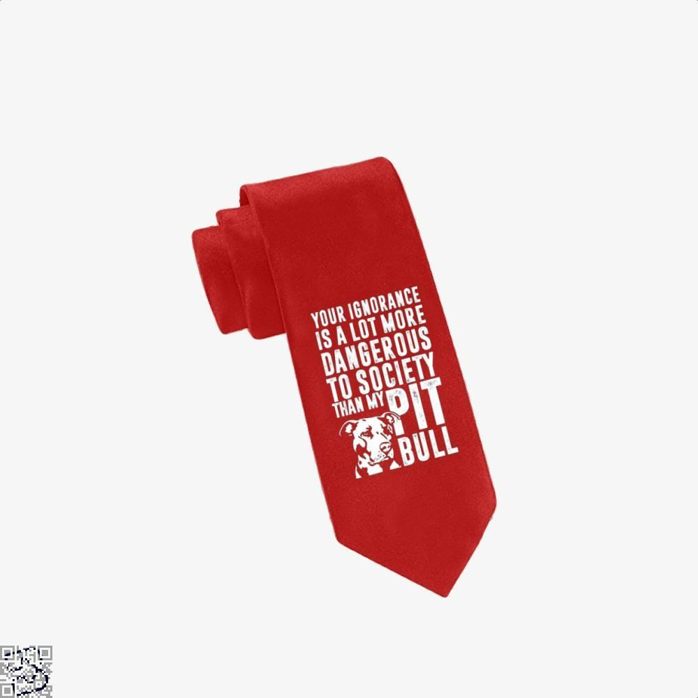 The Pitbull Dangerous Ignorance Tie - Red - Productgenjpg