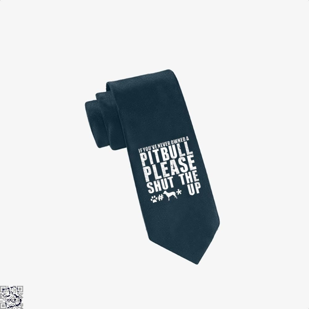 The Pitbull Never Owned A Pit Bull Tie - Navy - Productgenjpg