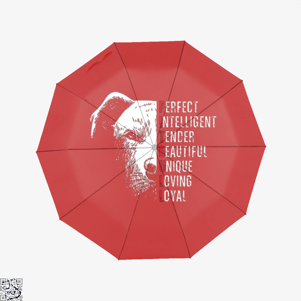 The Pitbull Perfect Pit Bull Umbrella - Red - Productgenjpg