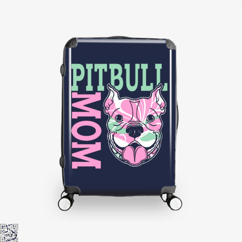 The Pitbull Pink Pit Bull Mom Suitcase - Blue / 16 - Productgenjpg