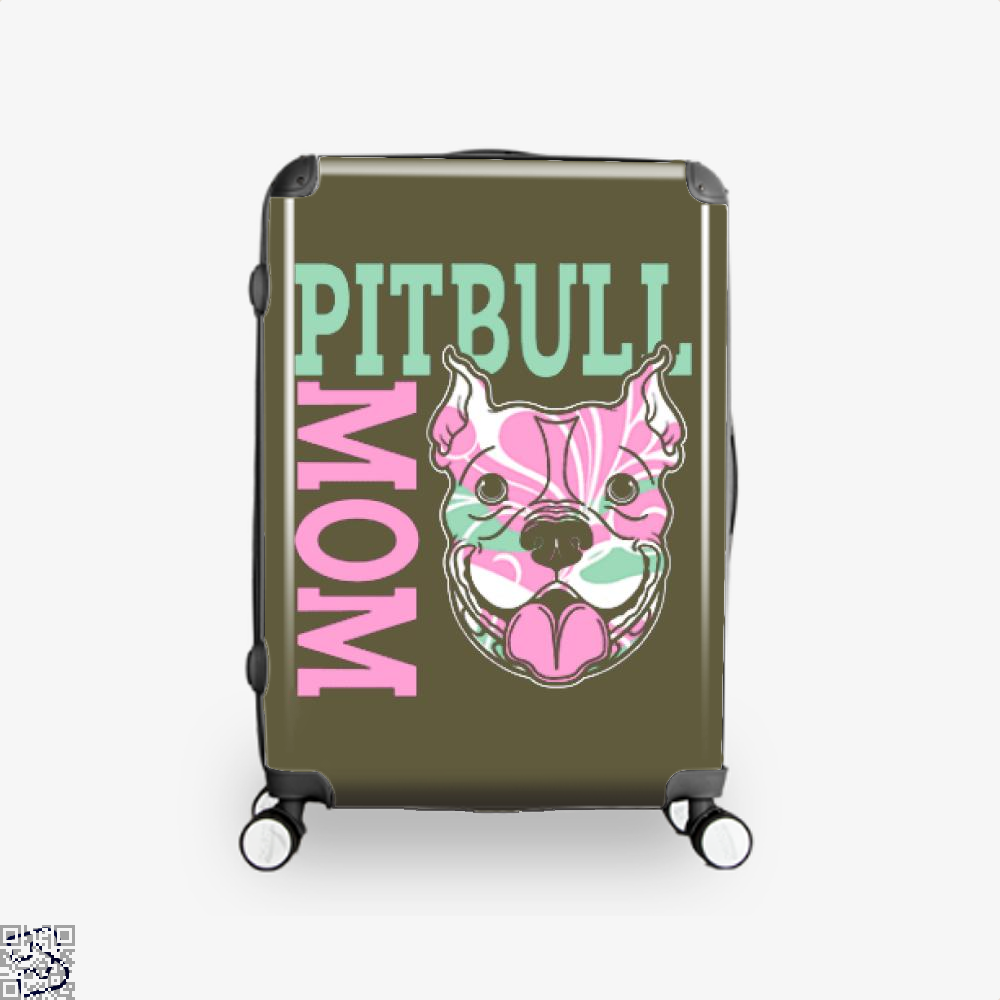 The Pitbull Pink Pit Bull Mom Suitcase - Brown / 16 - Productgenjpg