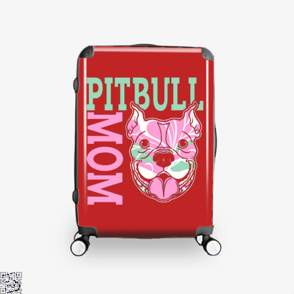 The Pitbull Pink Pit Bull Mom Suitcase - Red / 16 - Productgenjpg