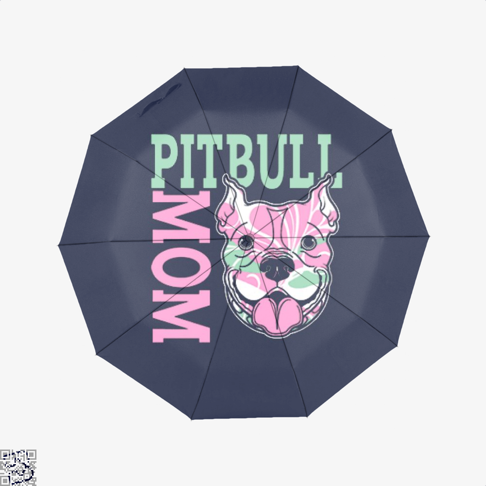 The Pitbull Pink Pit Bull Mom Umbrella - Blue - Productgenjpg