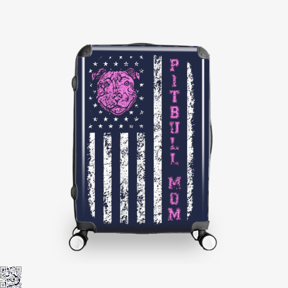 The Pitbull Pit Bull Mom Flag Suitcase - Blue / 16 - Productgenjpg