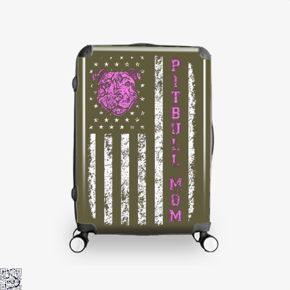 The Pitbull Pit Bull Mom Flag Suitcase - Brown / 16 - Productgenjpg